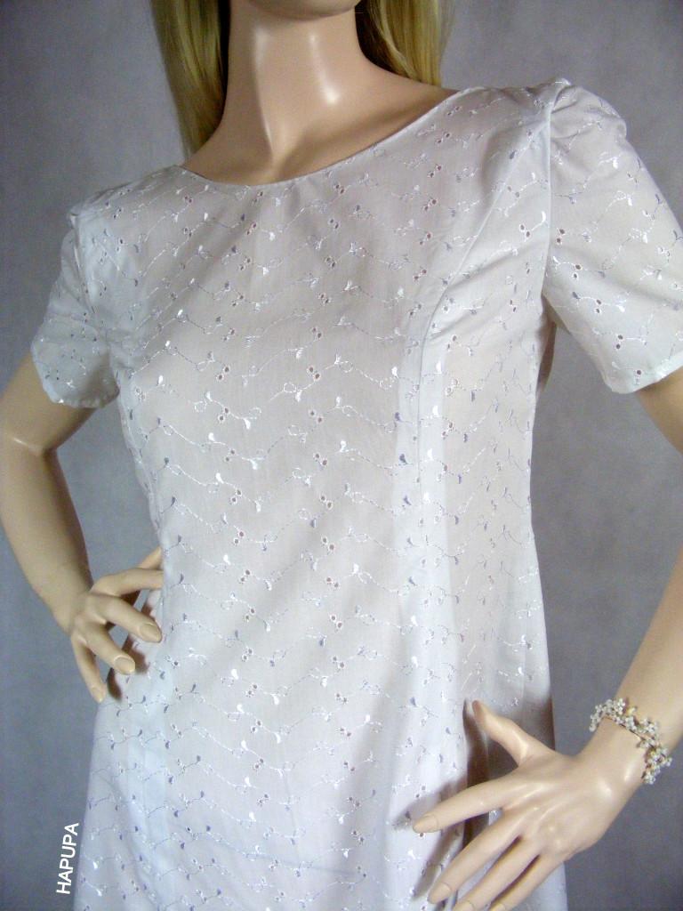 Fotografie pro model – Bílé madeirové šaty