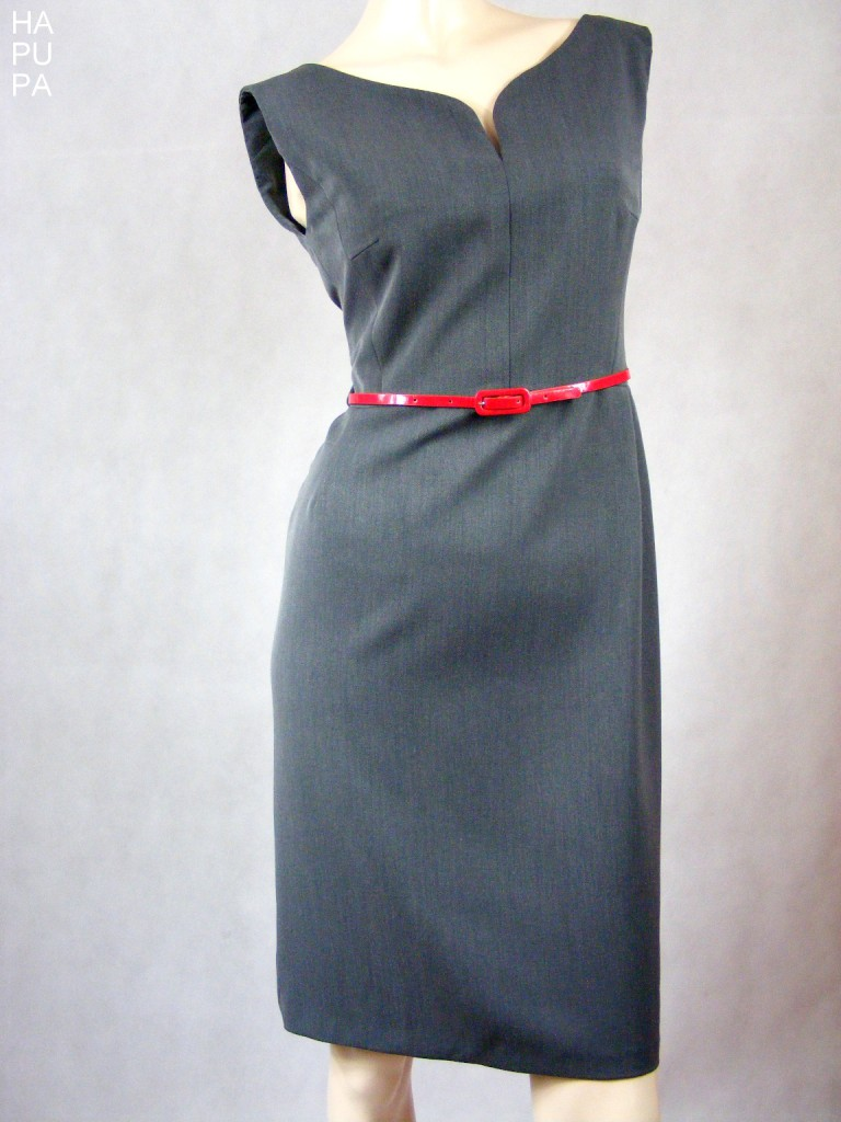 Fotografie pro model – Šedé pouzdrové šaty