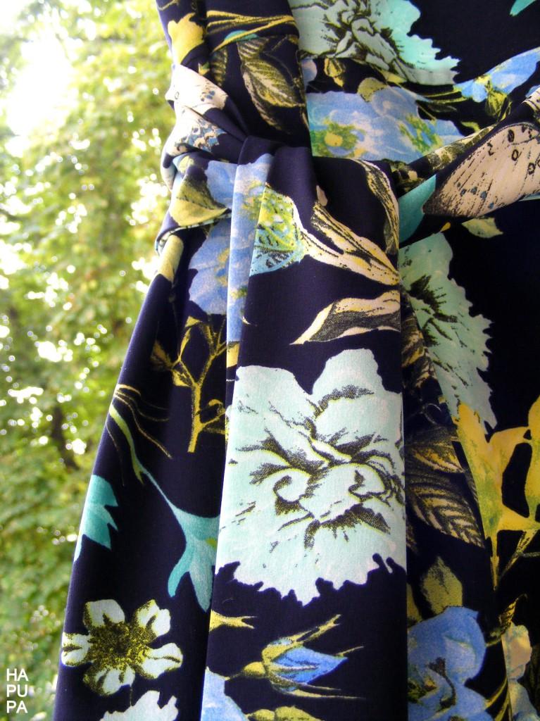 Fotografie pro model – Květované modré šaty