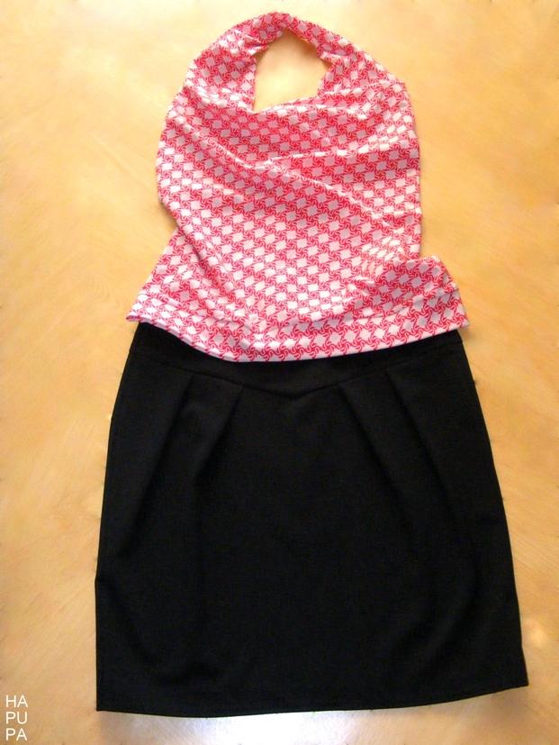 Černá sukně stopem