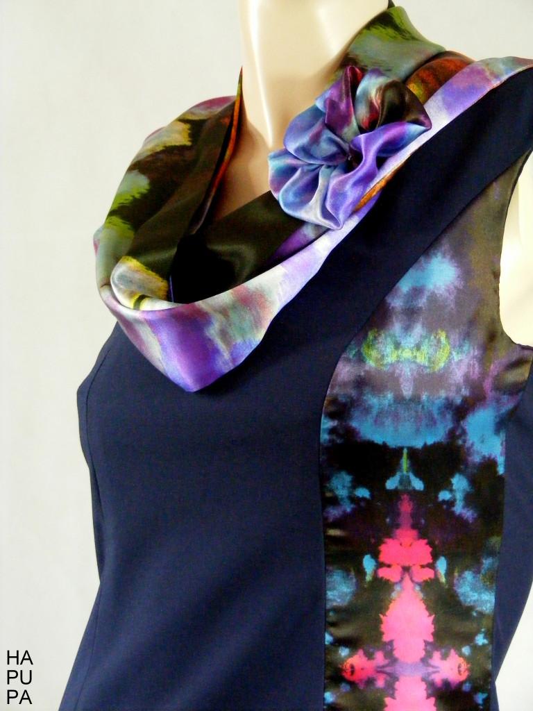Šaty sesaténovými vsadkami