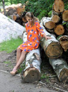 HAPUPA Oranžové šaty