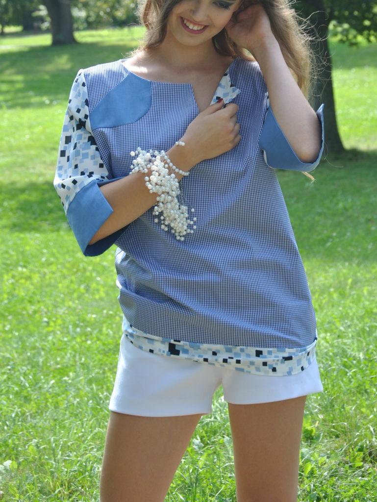 Fotografie pro model – Kostkovaná košile