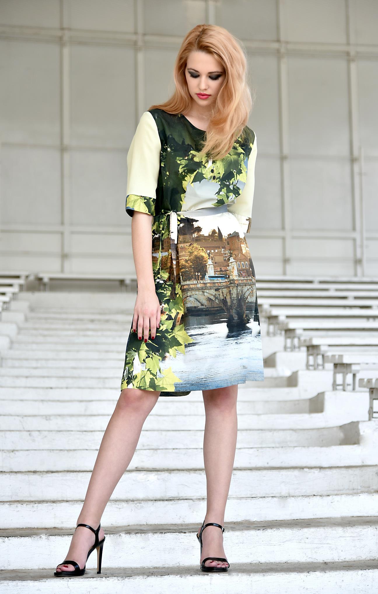 Fotografie pro model – Šaty sřímským vzorem