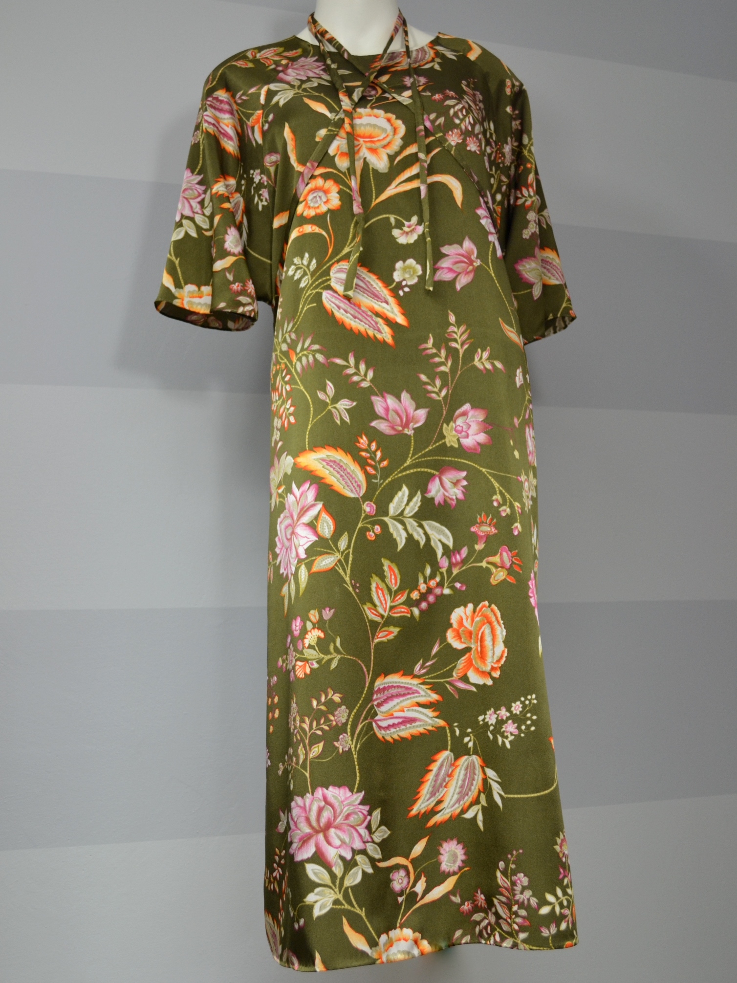 Zelené šaty skvěty