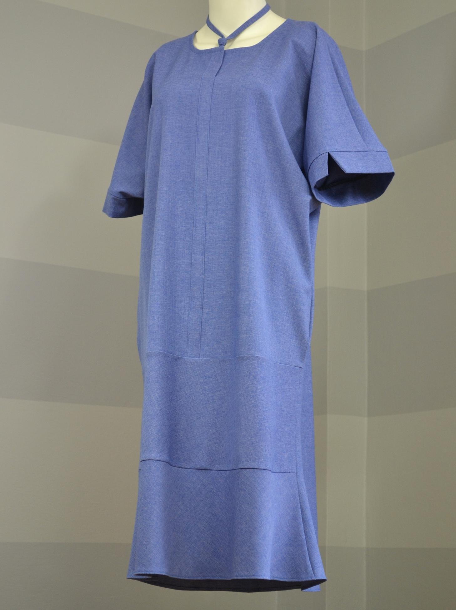 Fotografie pro model – Světlemodré košilové šaty