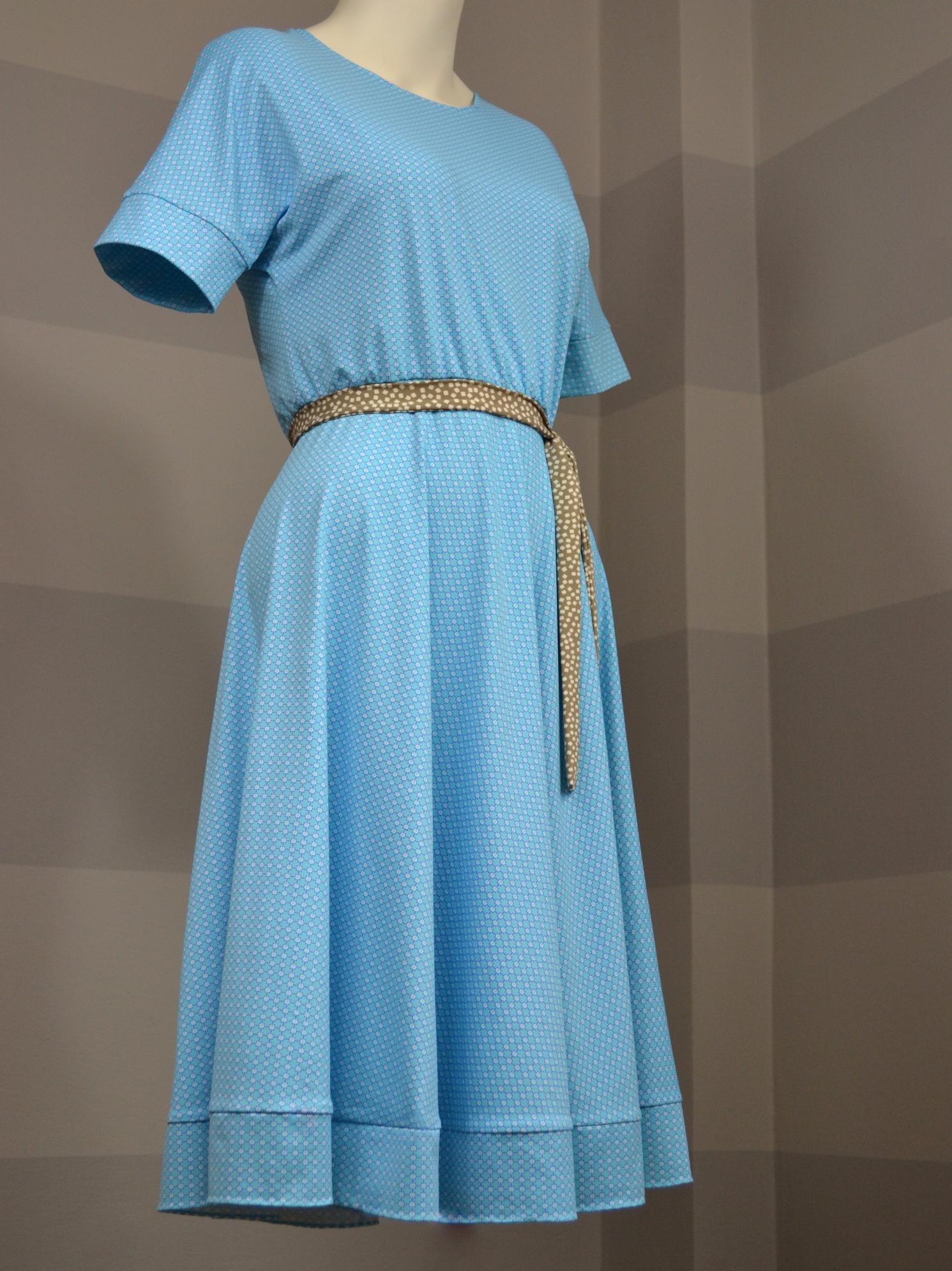 Tyrkysové šaty spuntíky