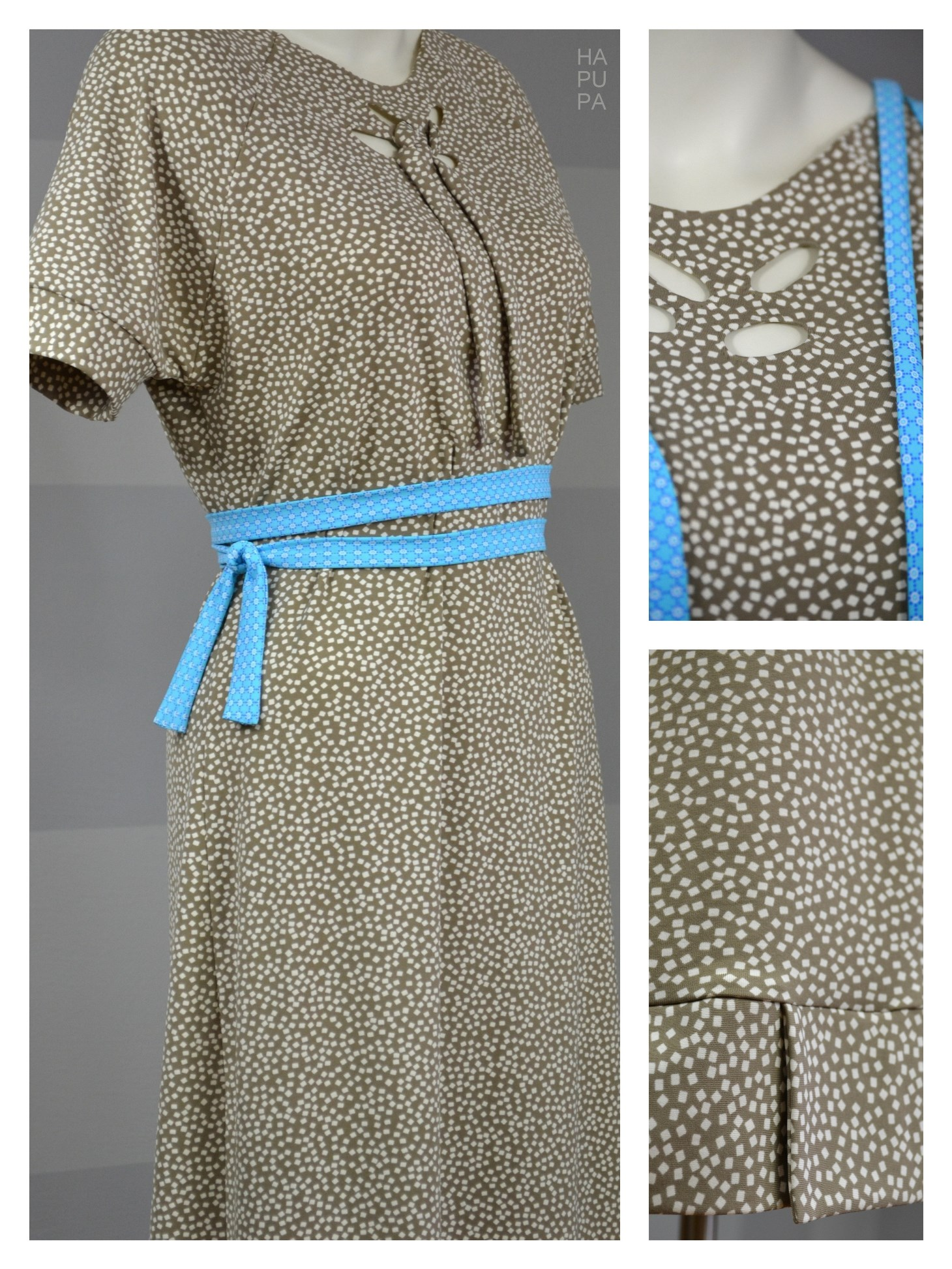 Fotografie pro model – Béžové šaty skostičkami