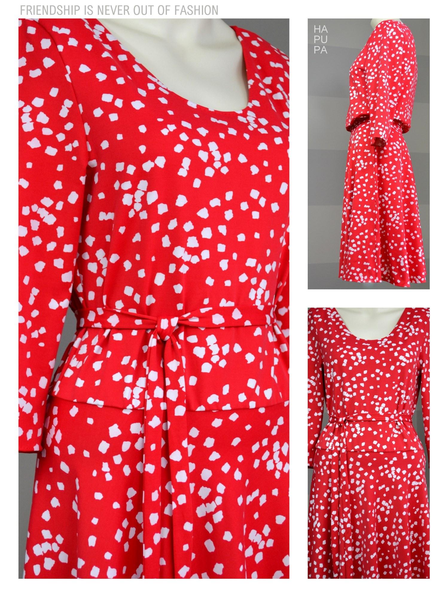 Fotografie pro model – Červené šaty sbílým vzorem