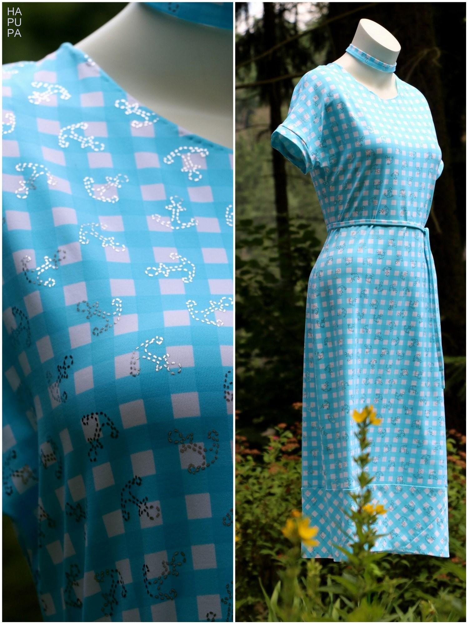 Fotografie pro model – Tyrkysové šaty vichy